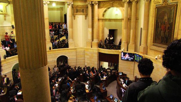 La oposición a la JEP corrió por cuenta del Centro Democrático, fundado por el expresidente y ahora senador Álvaro Uribe. (CC)