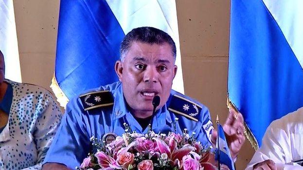 """Jaime Vanegas, jefe de la Policía nicaragüense, calificó reiteradamente de """"terrorismo golpista"""" al movimiento contrario a Ortega. (Captura)"""