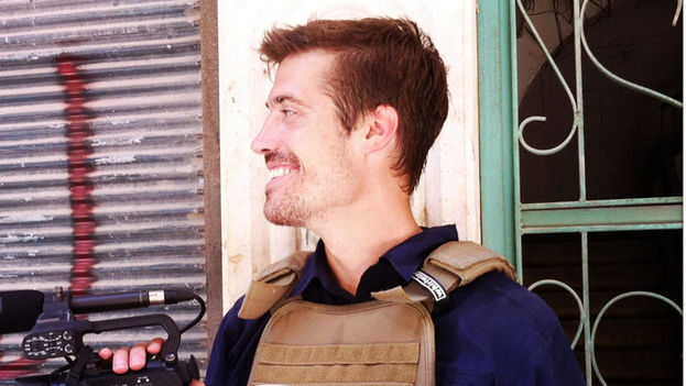 James Foley en Alepo, Siria, en julio de 2012. (Nicole Tung)