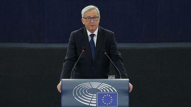Jean-Claude Juncker durante el discurso sobre el estado de la Unión. (Comisión Europea)