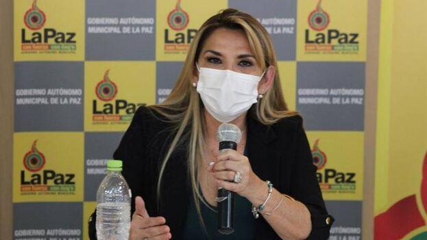 Jeanine Áñez, presidenta interina de Bolivia. (EFE/Luis Ángel Reglero/Archivo)