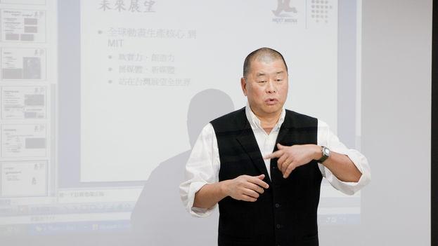 Jimmy Lai durante una conferencia a un grupo de jóvenes en 2010. (Yu-Cheng Hsiao/Flickr)