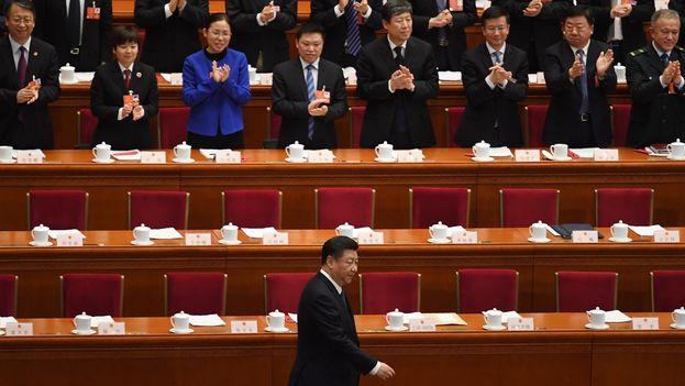 Xi Jinping en la Asamblea Nacional Popular que aprobó profundos cambios para el país. (Xinhua)