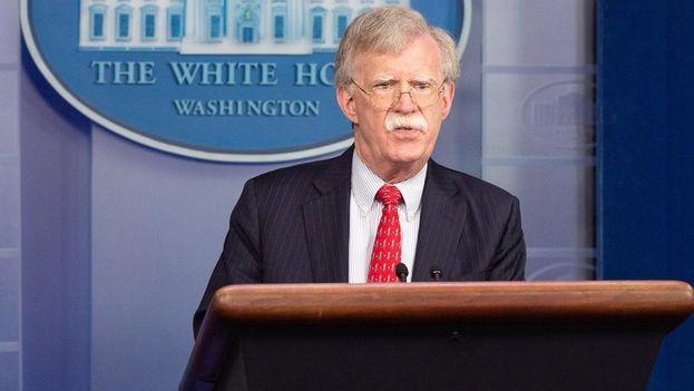 """John Bolton, el asesor de seguridad nacional de Trump, tiene previsto dar detalles """"pronto"""" sobre la estrategia de Estados Unidos ante esos """"tres países"""". (@AmbJohnBolton)"""