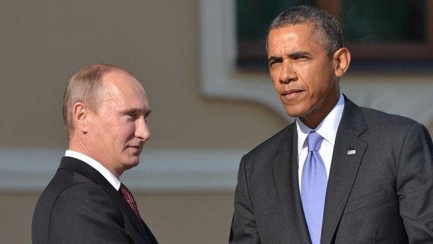 El encuentro se produjo después de una serie negociaciones sin éxito entre John Kerry y Serguei Lavrov. (Twitter)