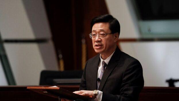John Lee, ex responsable de Seguridad de Hong Kong y nuevo número dos del Gobierno local. (EFE/EPA/Lynn Bo Bo)