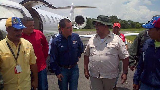Jorge Arreaza supervisa el desarrollo del Estado de Excepción en Páez, del estado Apure. (@ViceVenezuela)