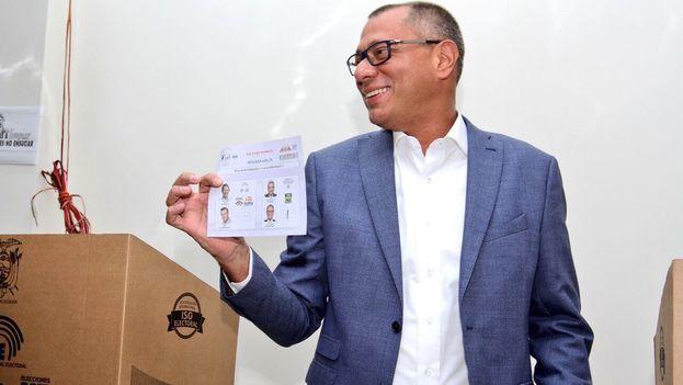 Jorge Glas fue elegido vicepresidente el pasado 2 de abril en tándem con el presidente Lenín Moreno, del que luego se distanció. (@JorgeGlas)