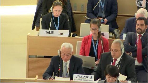 Jorge Valero ha protestado contra la resolución de la ONU en Ginebra, primera sobre Venezuela del organismo. (ONU)