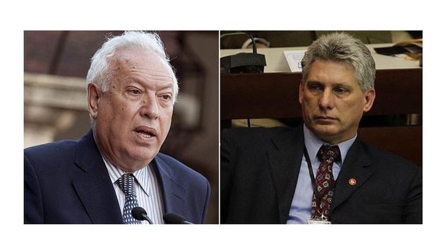 José Manuel García-Margallo y Miguel Díaz-Canel.