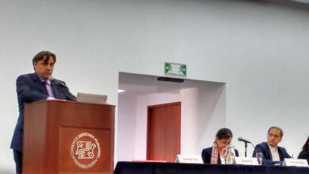 José Torero presenta las conclusiones de su peritaje este domingo. (@APReportero)