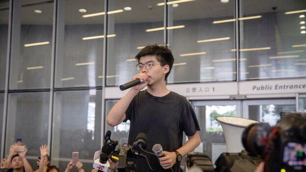 Joshua Wong fue uno de los líderes de las protestas prodemocráticas de 2014 en Hong Kong. (EFE/EPA Roman Pilipey)