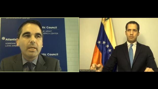 Juan Guaidó participó de forma remota en el foro 'Covid-19, una pandemia dentro de una crisis', organizado por el centro de pensamiento Atlantic Council.