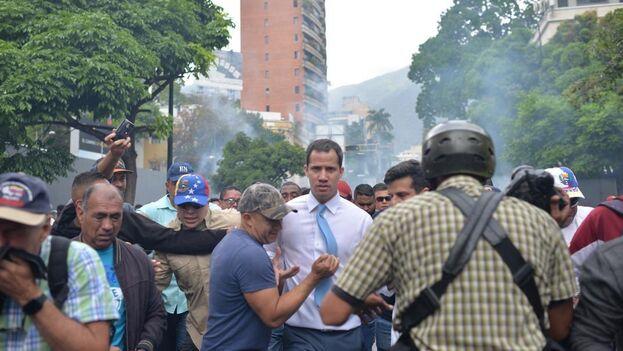 Juan Guaidó. (EFE/ Rayner Peña)