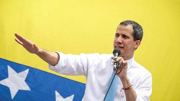 El líder opositor venezolano Juan Guaidó (EFE/ Rayner Peña)