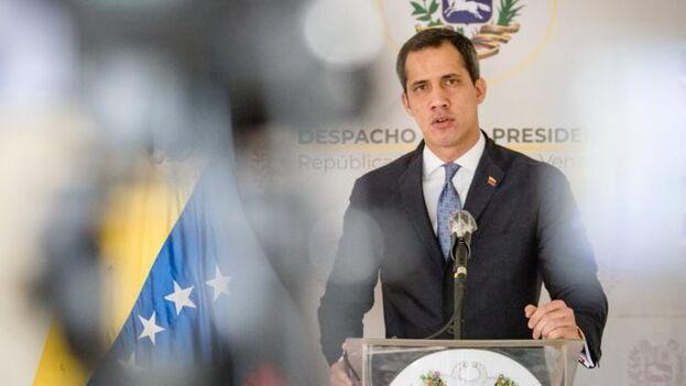 Juan Guaidó compareció en una alocución para valorar el informe de la ONU que acusa de crímenes contra la humanidad al Gobierno chavista. (presidenciave.com)