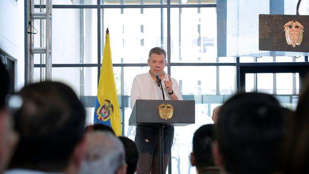 Este lunes es el último día de Juan ManuelSantos como presidente de Colombia. (JuanManuelSantos)