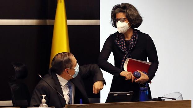 La magistrada Julieta Lemaitre hizo la denuncia pública en Bogotá. (EFE/Mauricio Dueñas Castañeda)