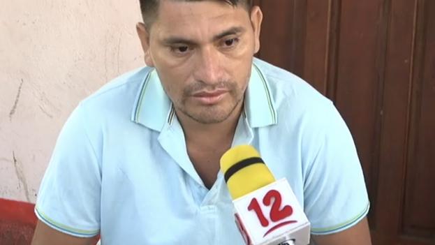 Julio César Espinoza Gallegos, en una entrevista para el canal nicaragüense 'Noticias 12'. (Captura)