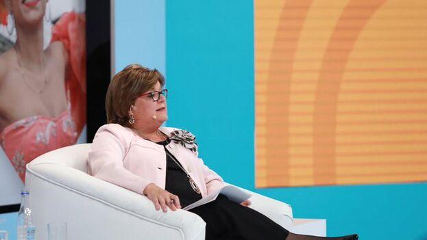 """La ministra de Justicia, Gloria María Borrero, dimitió en el contexto de la liberación de Santrich, aunque lo atribuye a""""los cambios normales de cualquier Gobierno"""". (@GloriaMBorrero)"""