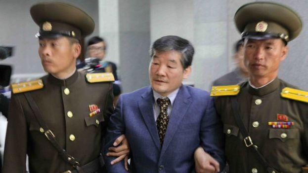 Kim Dong-chul, de 64 años y nacido en Corea del Sur, tiene pasaporte estadounidense y fue arrestado en octubre de 2015. (Captura)