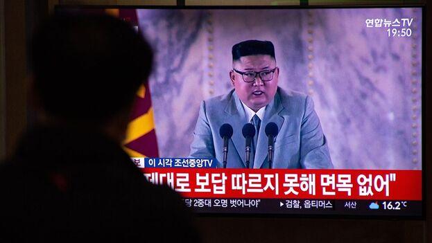 """Para el régimen que lidera Kim Jong-un, el endurecimiento del tono que ha marcado la llegada al poder de Biden supone """"un pretexto para sus actos hostiles"""". (EFE/EPA/JEON HEON-KYUN)"""