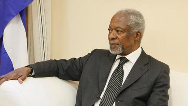 Kofi Annan en La Habana. (Minrex/Twitter)