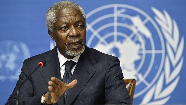 Kofi Annan, ex secretario general de la ONU y nobel de la Paz. (EFE)