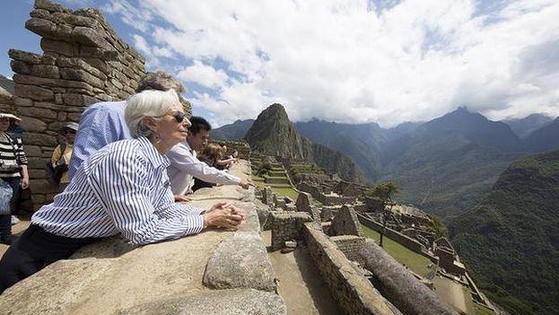 Lagarde ha visitado el Machu Pichu durante su estancia en Perú. (@Lagarde)