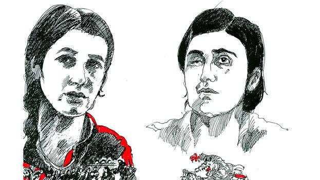 Las activistas yazidíes Nadia Murad y Lamiya Aji Bashar, víctimas de esclavitud sexual perpetrada por el Estado Islámico en Irak. (Premio Sájarov)