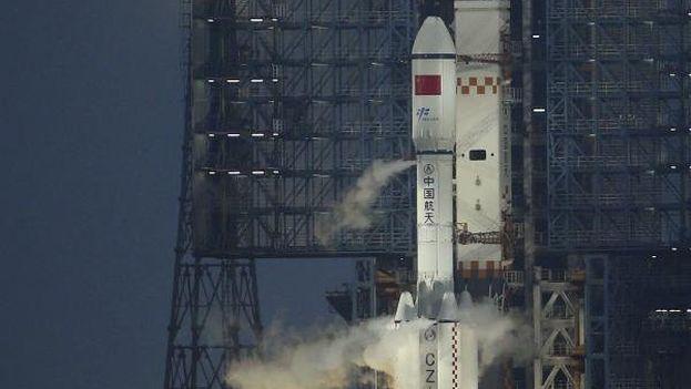 Lanzamiento del carguero espacial chino Tianzhou 1. (Archivo EFE)