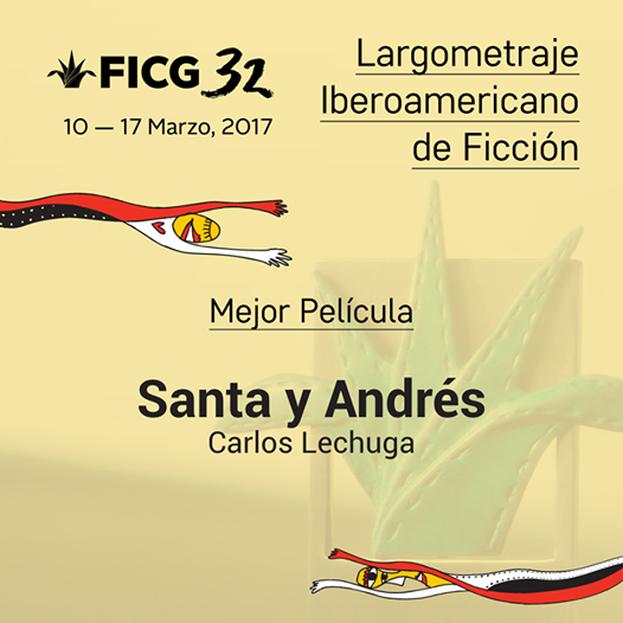 El jurado de #LargoIberoFicción otorga el #Mayahuel a Mejor Película Iberoamericana a Santa y Andrés de Carlos Lechuga