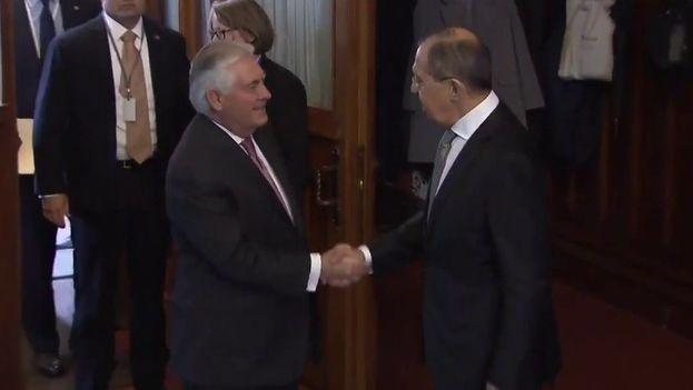 Lavrov recibe a Tillerson este miércoles en Moscú para limar asperezas tras los últimos acontecimientos en Siria. (Ruptly/Captura)