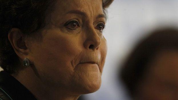 El Legislativo ha dado el aval para un eventual juicio contra la presidenta brasileña, Dilma Rousseff. (EFE)
