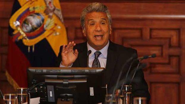 La destitución de Lenín Moreno al frente de Alianza País fue decidida por el consejo ejecutivo nacional del movimiento. (EFE)