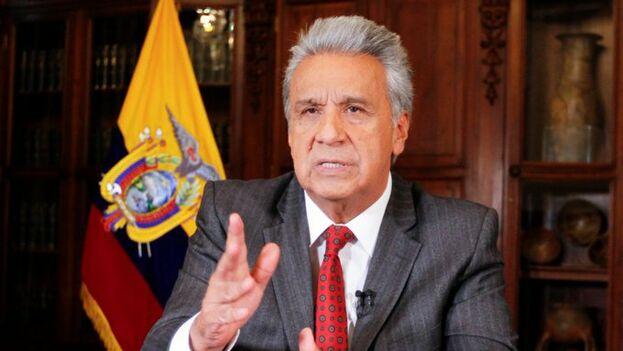 Lenín Moreno indicó que suprimir el subsidio a los combustibles fósiles forma parte de la protección al medioambiente. (@Presidencia_Ec)