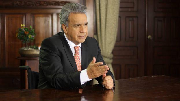 Lenín Moreno explicó en televisión que nadie de su Gobierno estará en la toma de posesión de Maduro este jueves.