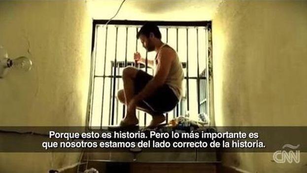 Leopoldo López en prisión. (CNN)