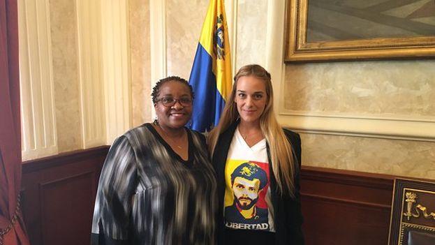 Lilian Titori con Naomi Tutu, presente también en apoyo a Leopoldo López. (@liliantintori)