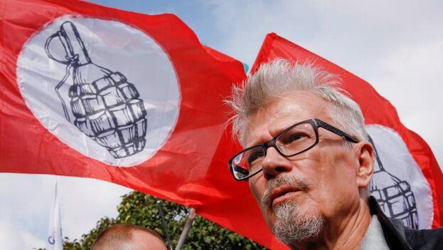 Limonov en una marcha contra Putin. (EFE)