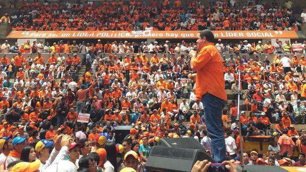 Luis Florido en un evento de su partido, Voluntad Popular. (@LuisFlorido/Twitter)