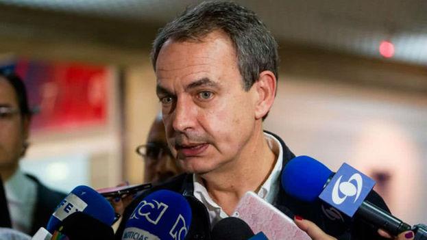 José Luis Rodríguez Zapatero defiende el diálogo como única solución para la situación en Venezuela, aunque dice saber las dificultades. (EFE)