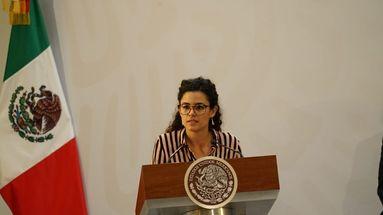 """Luisa Alcalde sostuvo que que la política laboral del nuevo Gobierno """"es fundamentalmente social e incluyente"""". (@STPS_mx)"""