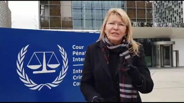 Luisa Ortega en la Corte Penal para denunciar al Gobierno de Maduro por la muerte de Fernando Albán. (Luisa Ortega Díaz)