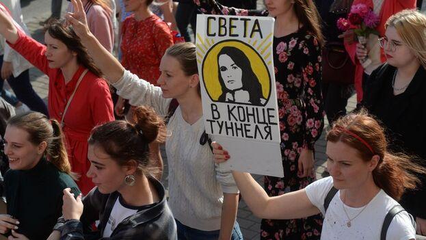 """Lukashenko asegura que las manifestaciones en Bielorrusia están instigadas """"desde el extranjero"""". (EFE/EPA/STR/Archivo)"""
