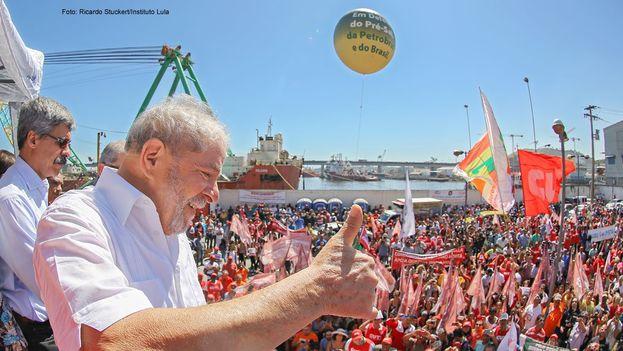 Lula en una de las manifestaciones de apoyo de sus simpatizantes el pasado agosto. (@InstitutoLula)