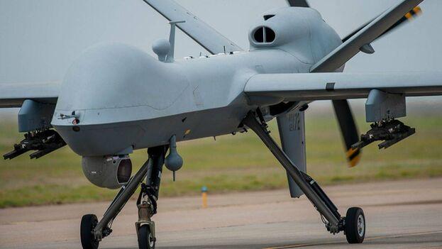 El MQ-9 Reaper tiene techo de vuelo medio, larga autonomía y pilotaje remoto que se emplea principalmente para la ejecución de objetivos en movimiento, además de como activo de inteligencia. (U.S. Air Force)