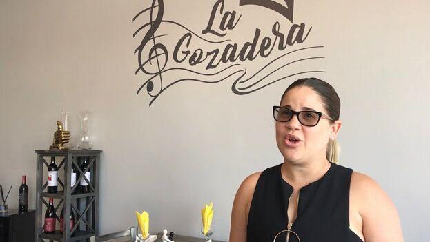 Madeleydis Mejía, una emprendedora cubana que abrió su propio restaurante en Miami. (14ymedio)