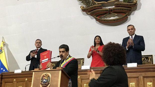 Maduro anunció las nuevas medidas económicas ante la plenipotenciaria Asamblea Nacional Constituyente. (PSUV)