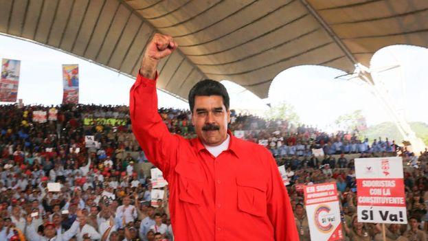 Maduro en el primer acto de campaña por la Constituyente, este jueves en Guayana (Bolivar). (@PrensaPresidencial)